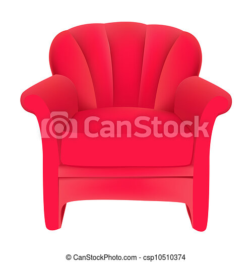 chair drawing easy. vector - red velvet easy chair on white background drawing