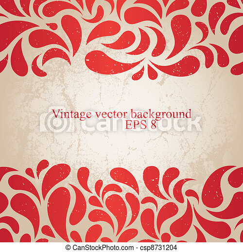 red vintage background - csp8731204