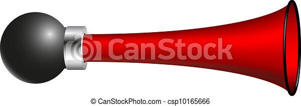 Red vintage bicycle air horn - csp10165666