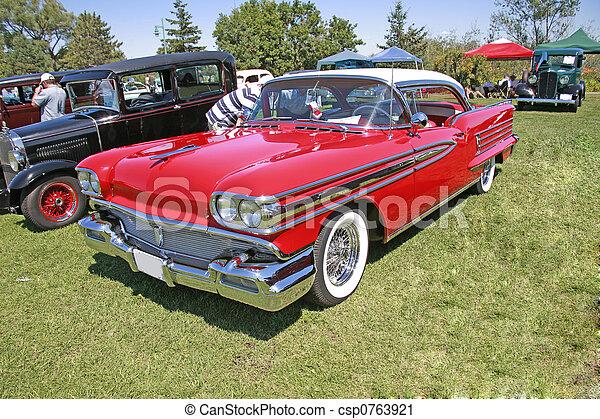 red vintage car - csp0763921