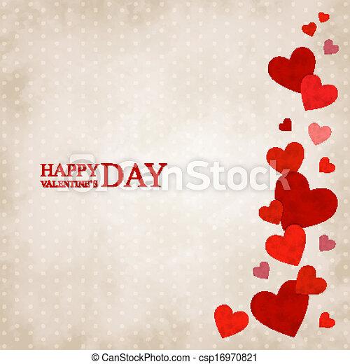 Red vintage hearts - csp16970821