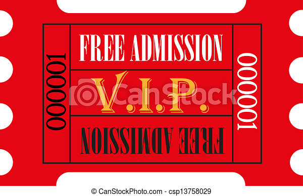 Red VIP Admission ticket - csp13758029
