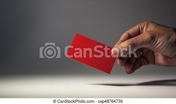 Red Visit Card - csp48764739