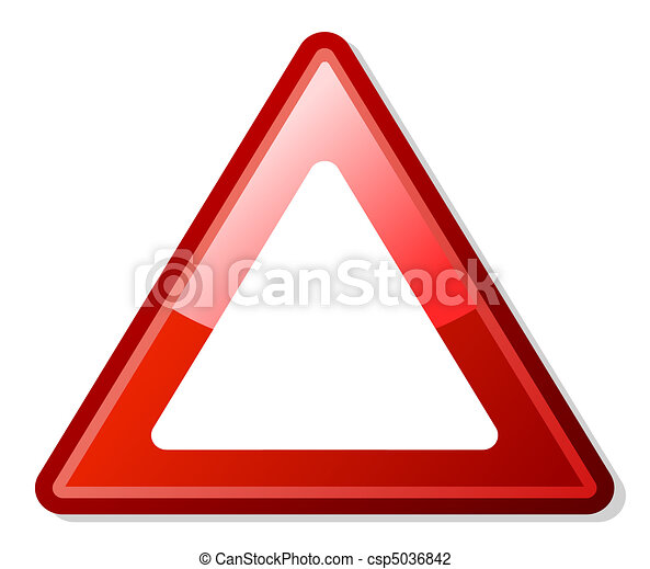 Red warning triangle - csp5036842
