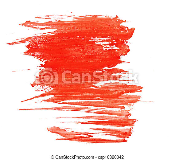 Red water color paint texture - csp10320042