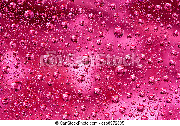 Red water drops texture - csp8372835