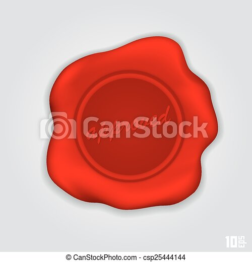 Red wax seal - csp25444144