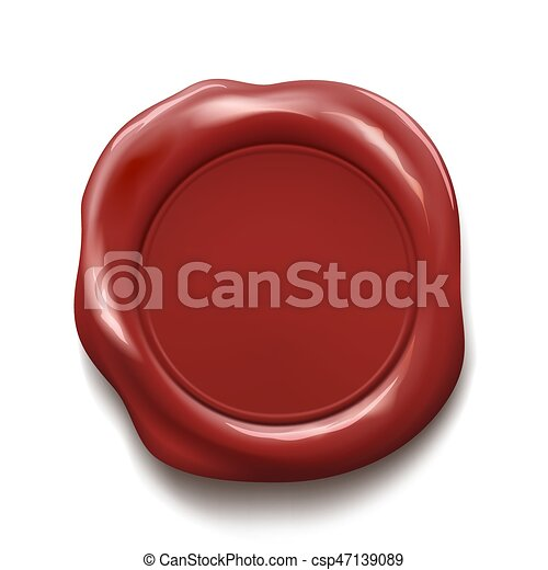 Red wax seal - csp47139089