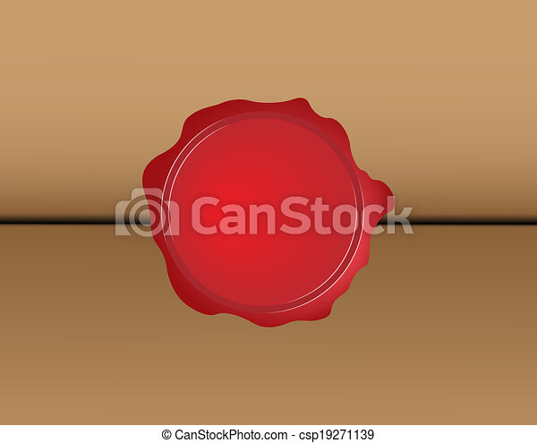 Red wax seal - csp19271139