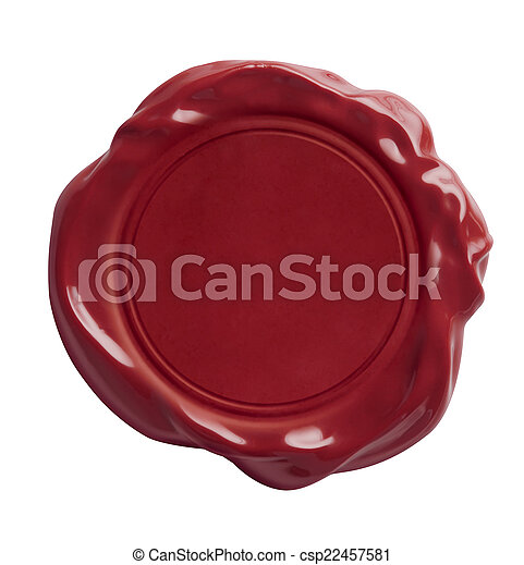 red wax seal isolated included - csp22457581