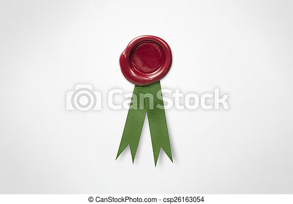 Red Wax Seal - csp26163054