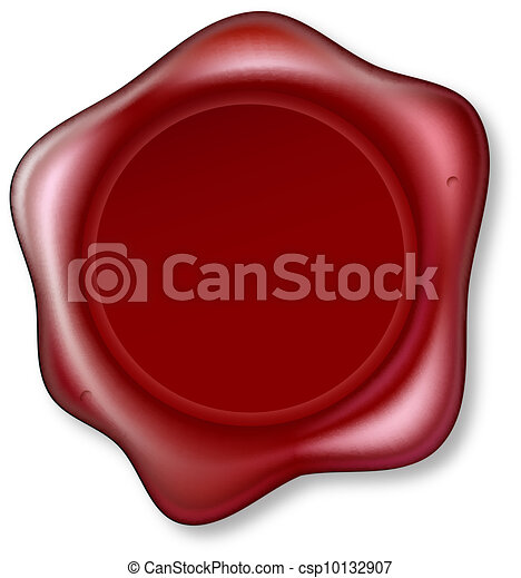 Red Wax Seal - csp10132907