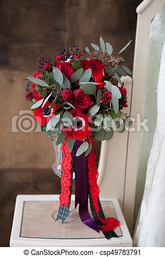 Red Wedding Flowers Bouqete