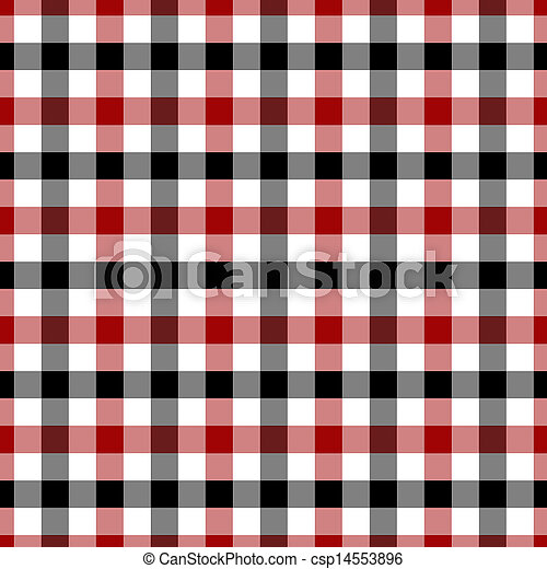 red white and black plaid fabric background red white and black