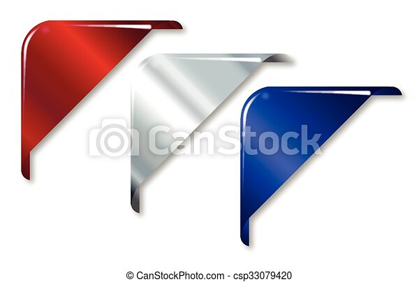 Red White And Blue Corners - csp33079420