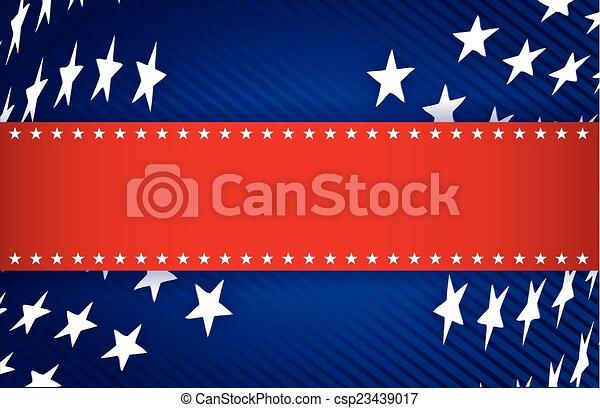 red, white and blue patriotic illustration - csp23439017