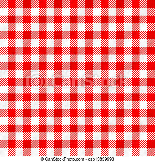 Red White Plaid Tablecloth   Csp13839993