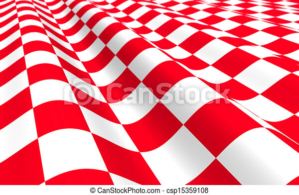 Red-white plane with wave - csp15359108