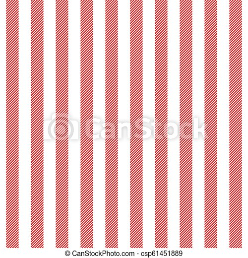 Red White Striped Fabric Texture Seamless Pattern Vector Illustration