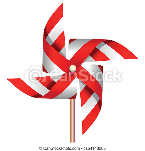 Red windmill toy - csp4148205