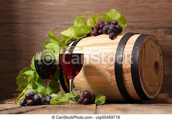 red wine glasses - csp55459718