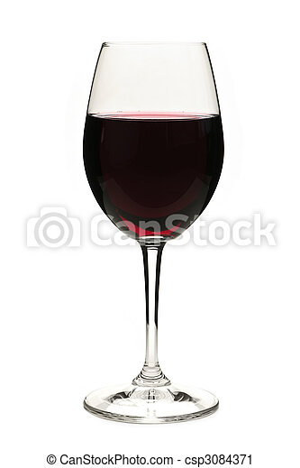 Red wine in glass - csp3084371