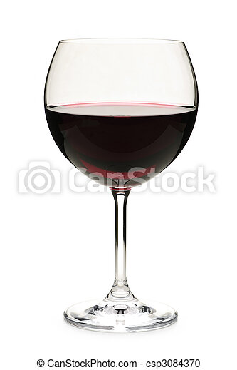 Red wine in glass - csp3084370