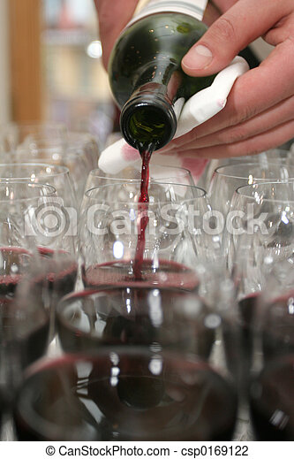 Red wine in glasses - csp0169122
