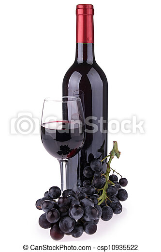 red wine isolated - csp10935522