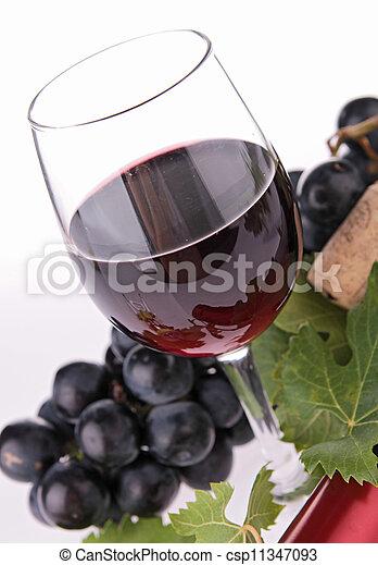 red wine - csp11347093