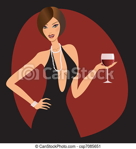 Red Wine A Beautiful Woman Holding A Glass Of Red Wine