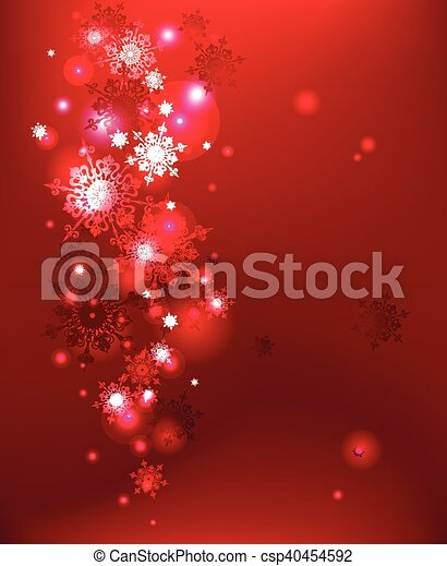 Red winter background - csp40454592