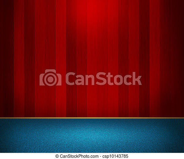 Red Wooden Wall Interior - csp10143785