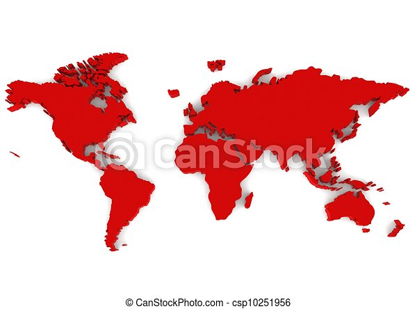 Red world map rendered artwork with white background stock red world map csp10251956 gumiabroncs Images