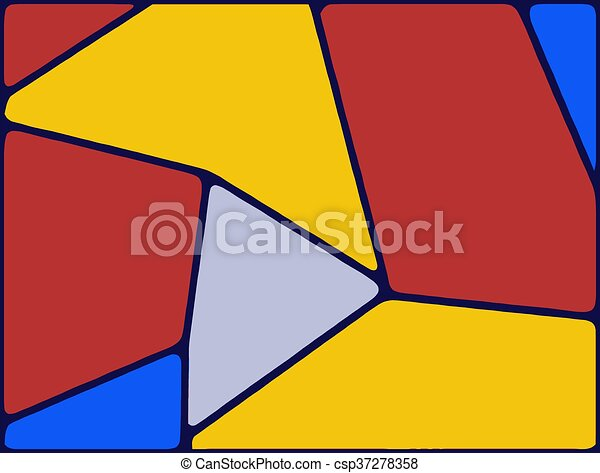 red yellow and blue drawing and painting abstract background - csp37278358