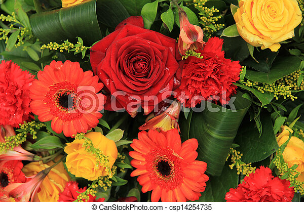 Red Yellow And Orange Wedding Decorations