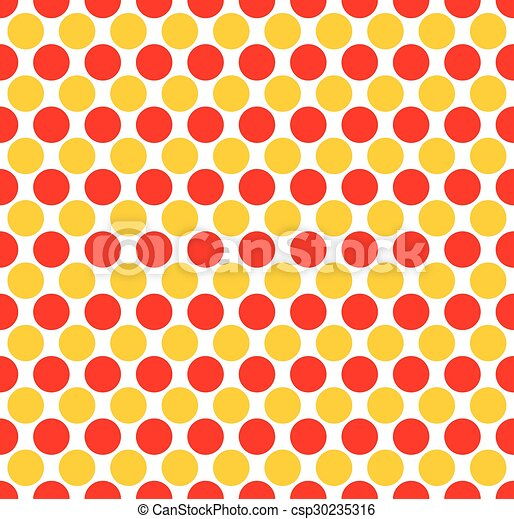 red yellow dotted polka dot background vector illustration