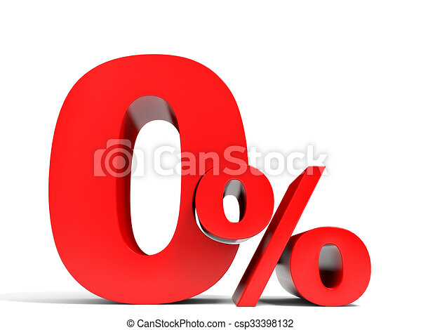 Red Zero Percent Off Discount 1