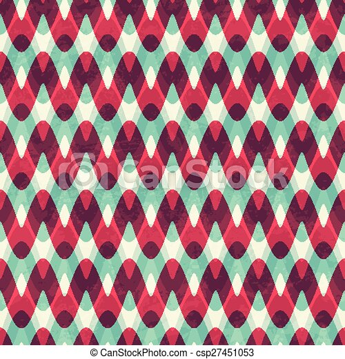 red zigzag seamless pattern - csp27451053