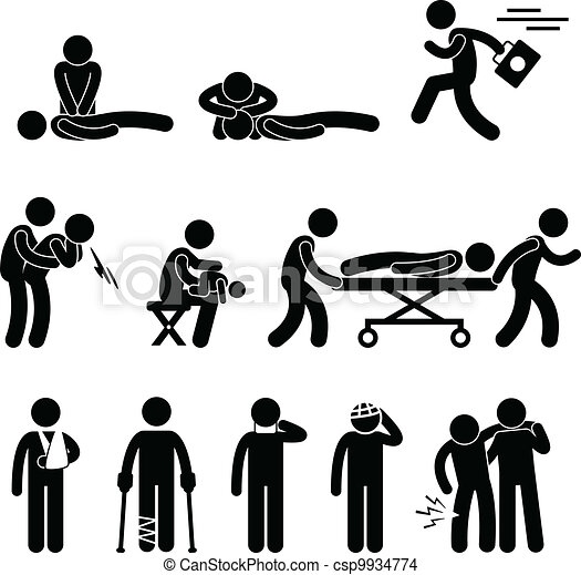 redding, noodgeval, hulp, reanimeren, eerst, helpen - csp9934774