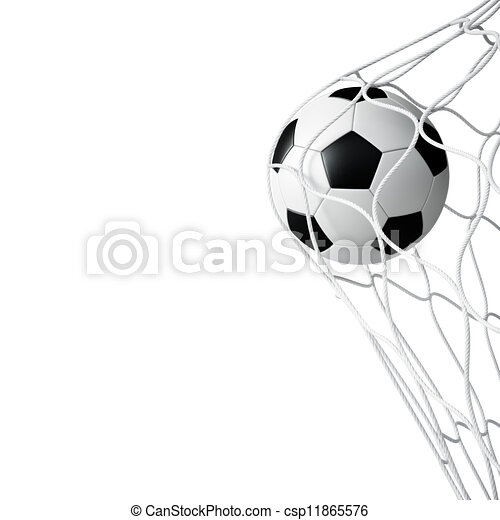 rede, futebol, isolado, bola - csp11865576