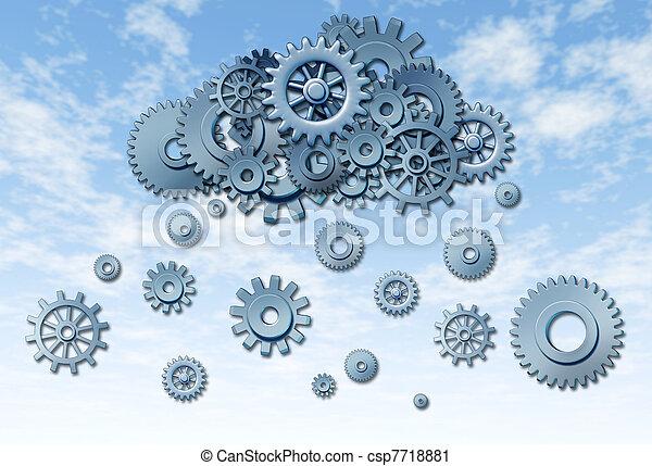 rede, nuvem, computando - csp7718881