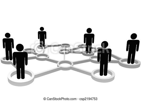 rede, pessoas negócio, conectado, social, nós, ou - csp2194753