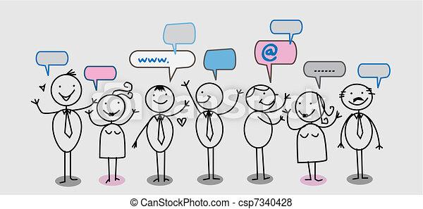rede, pessoas, social, homem negócios - csp7340428