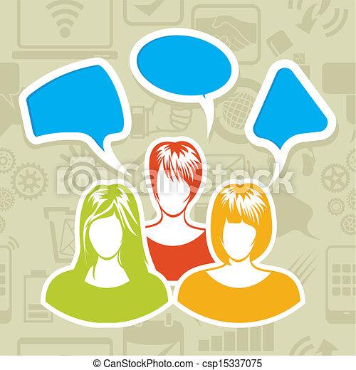 rede, social - csp15337075
