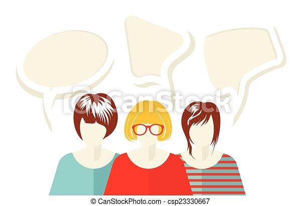 rede, social - csp23330667