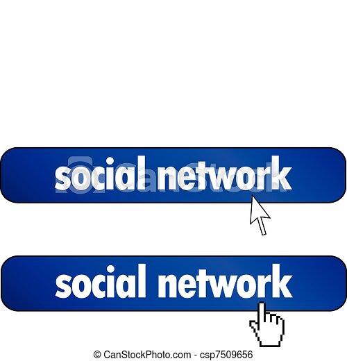 rede, social - csp7509656