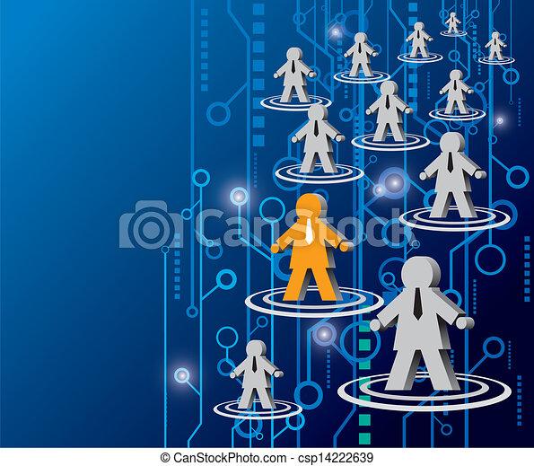 rede, social - csp14222639