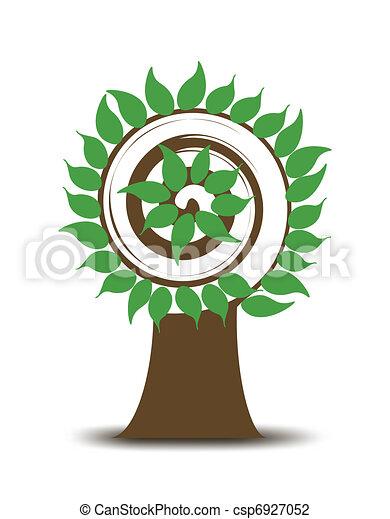redemoinho, abstratos, árvore., vetorial - csp6927052