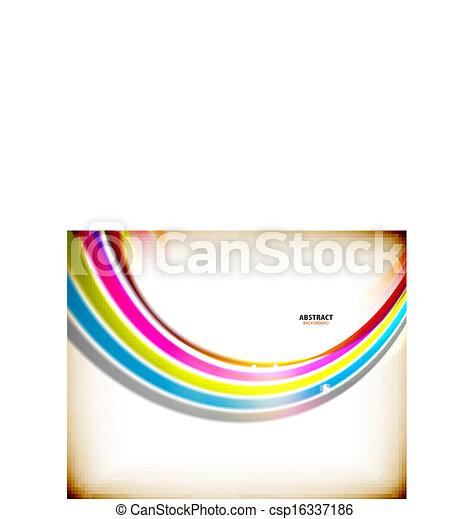 redemoinho, arco íris, abstratos, coloridos, fundo - csp16337186
